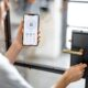 smartphone-with-launched-application-for-alarm-security
